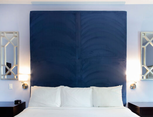 large headboard for king bed in hotel suite