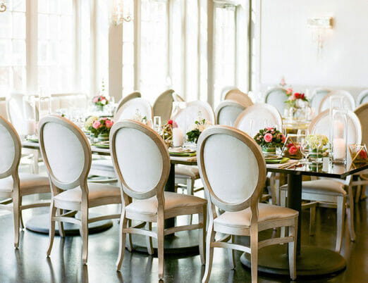 The Paige Room wedding venue dining table