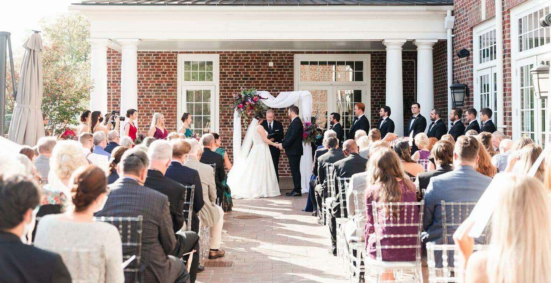 Wedding ceremony at The Mayton